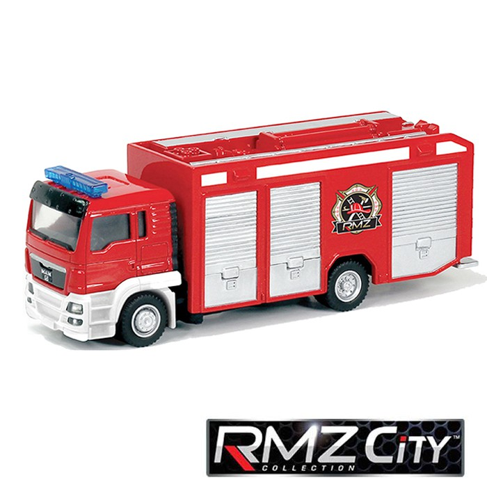 RMZ CITY  MAN TGS Fire Engine Truck Red Color 1/64 model scale