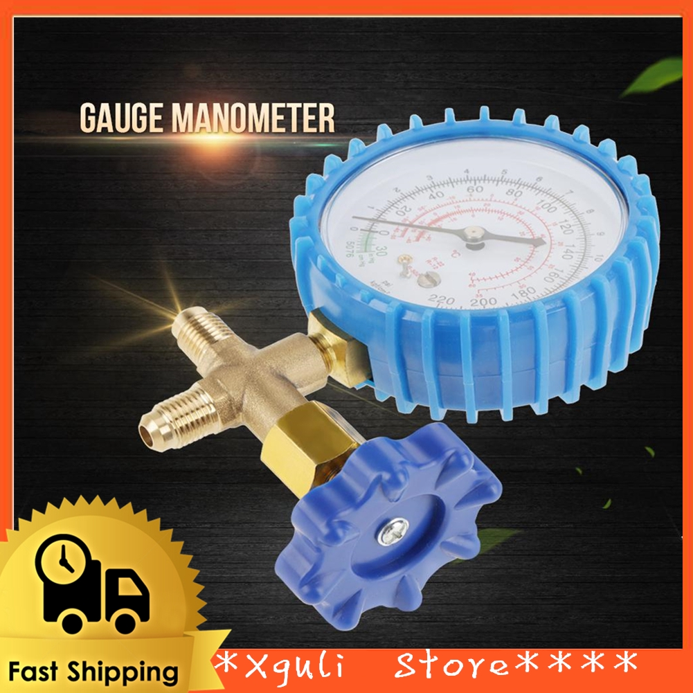 Air Conditioning Refrigerant Recharge Pressure Gauge Manometer Fit for  R410A R22 R134A R404A