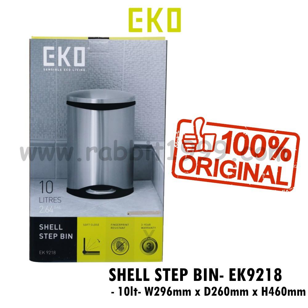 EKO SHELL STEP BIN - EK9218 - 10 Lt - eko shell step bin EK9218 / eko shell step bin 10L / eko step bin / eko trash bin