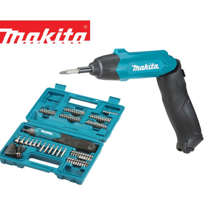 MAKITA DF001DW 3.6V CORDLESS SCREWDRIVER WITH 81PCS ACCESSORIES AND CASE