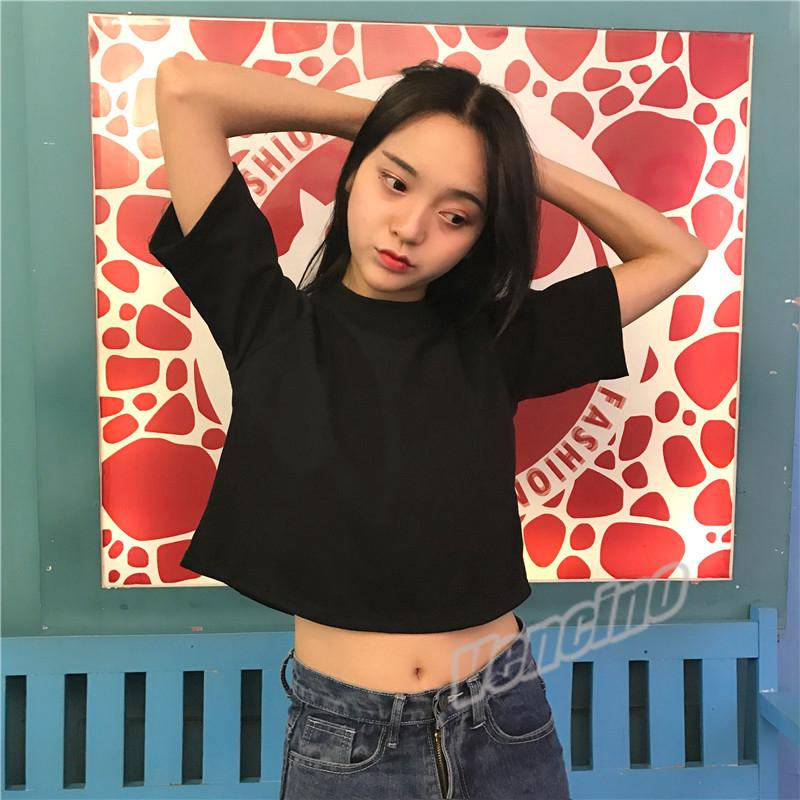 ed5503129f45 2019 Women's Korean Crop Top Short-sleeved T-shirt Student Loose Half-sleeved  Tee M-XXL | Shopee Malaysia