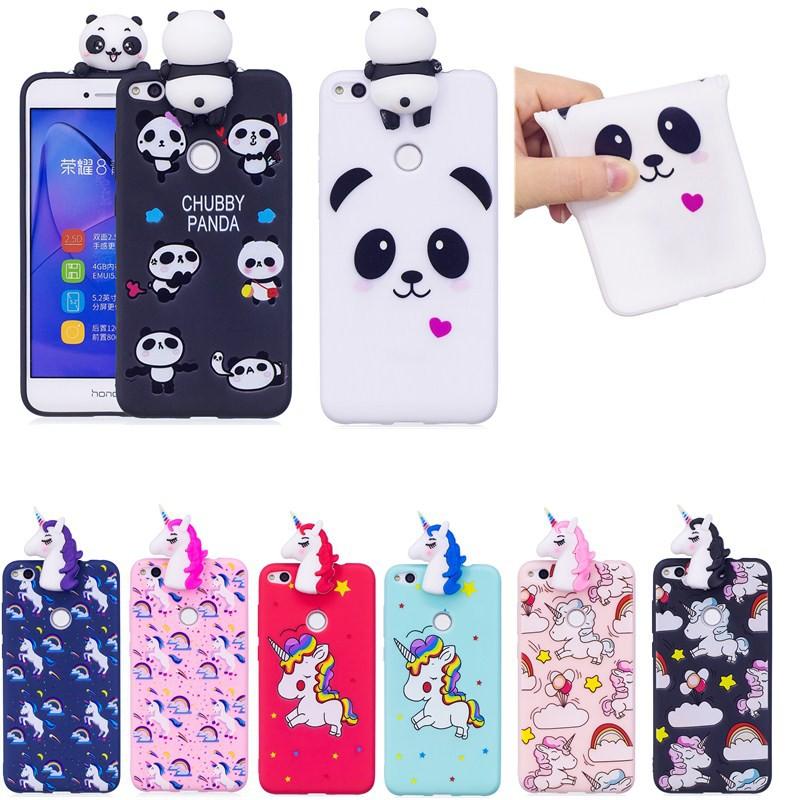 For Huawei P10 Lite 3D Unicorn Panda CartoonTPU Phone Case Soft Silicone Cover