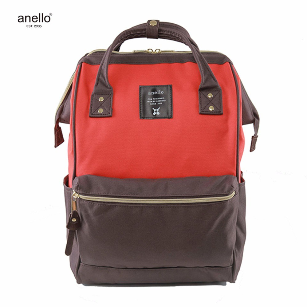 adb8efa7e3f3 Japan Anello Signature Design Polyester Women Backpack Mix Color in Mini  Size