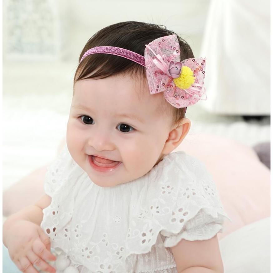 """Headbands Hair Bands 4 /"""" Bows Baby Girls Toddler Kids Newborn 20 Piece Set New"""
