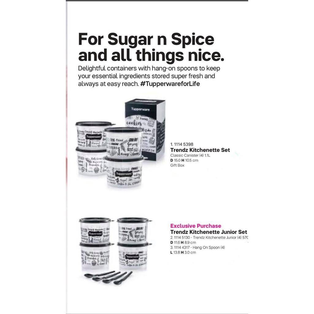 Tupperware Trendz Kitchenette Set 1.1L (4pcs) with Giftbox ** PWP Trendz Kitchenette Junior Set