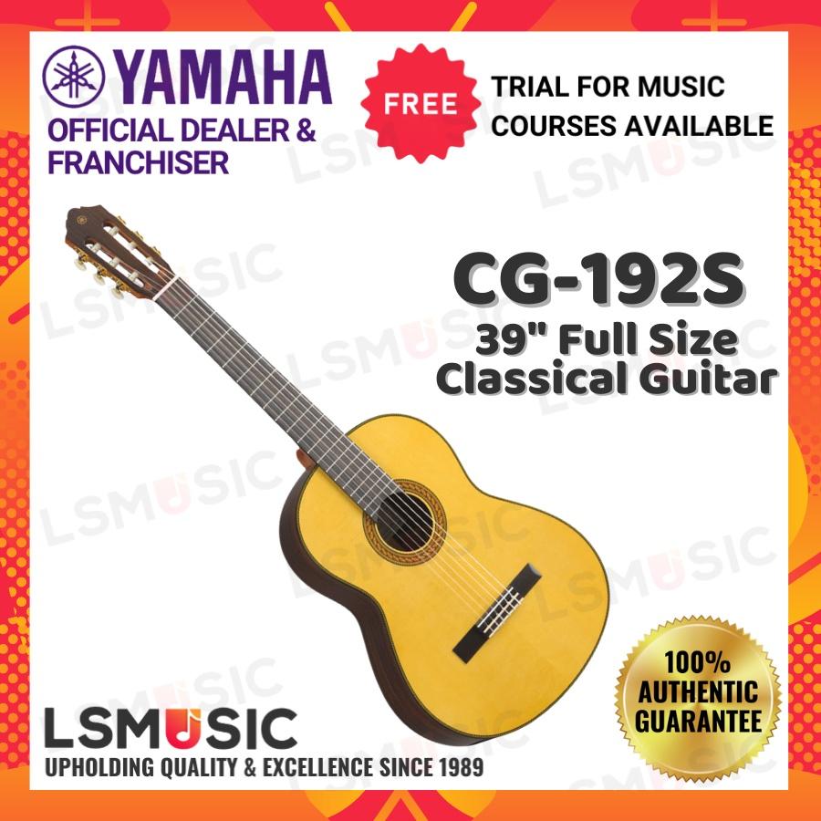 "YAMAHA CG-192S Solid European Spruce Top 39"" Full Size Classical Guitar - Gloss (CG192S)"