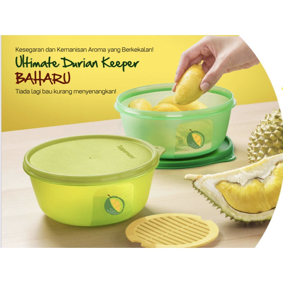 Tupperware Ultimate Durian Keeper 1.5L (2pc)