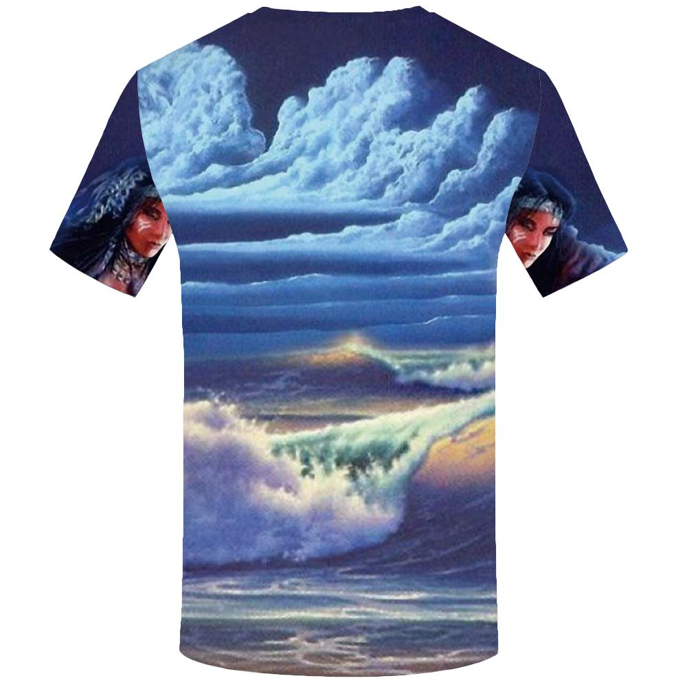 cd972bda34f7 KYKU Indians T shirt Men Beauty T shirts Anime Cloud Tshirt 3d Mountain  Tshirts
