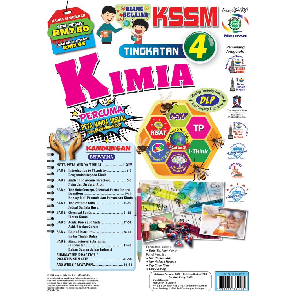 Riang Belajar Kssm Kimia Tingkatan 4 Buku Latihan Topikal Komik Shopee Malaysia