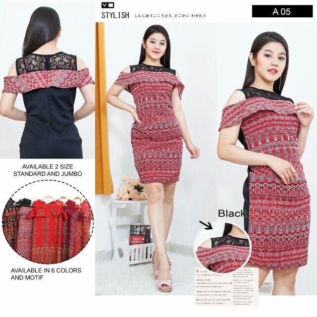 Dress Modern Corak Pua Kumbu  295852968f