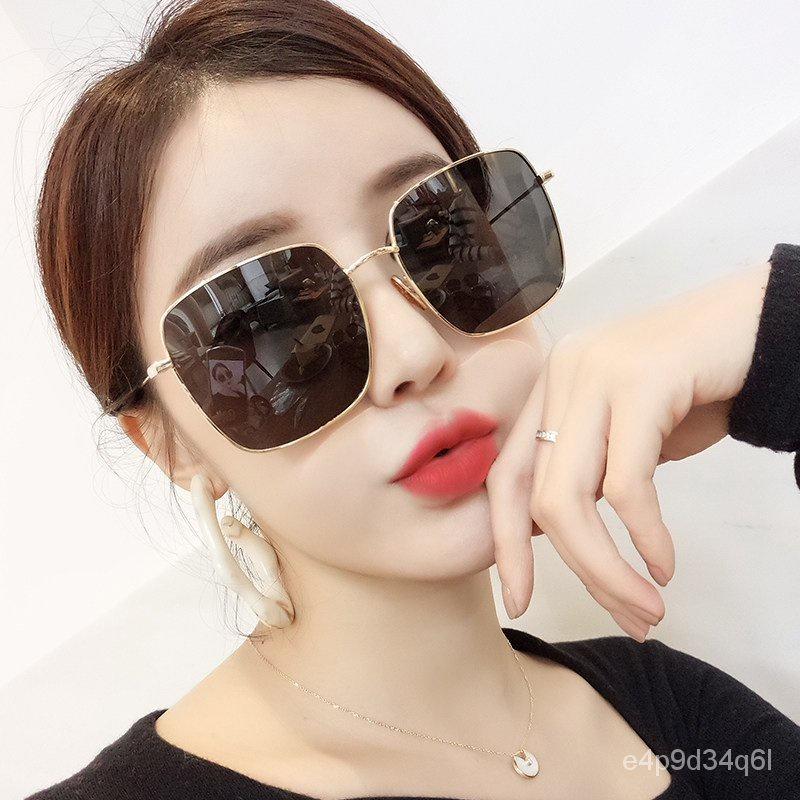 sunglassesd家墨镜女2021新款夏偏光网红太阳眼镜防紫外线圆脸大脸显瘦高级 MQ1Q