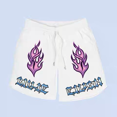 Merch Billie Eilish Flame Shorts Shorts Shopee Malaysia