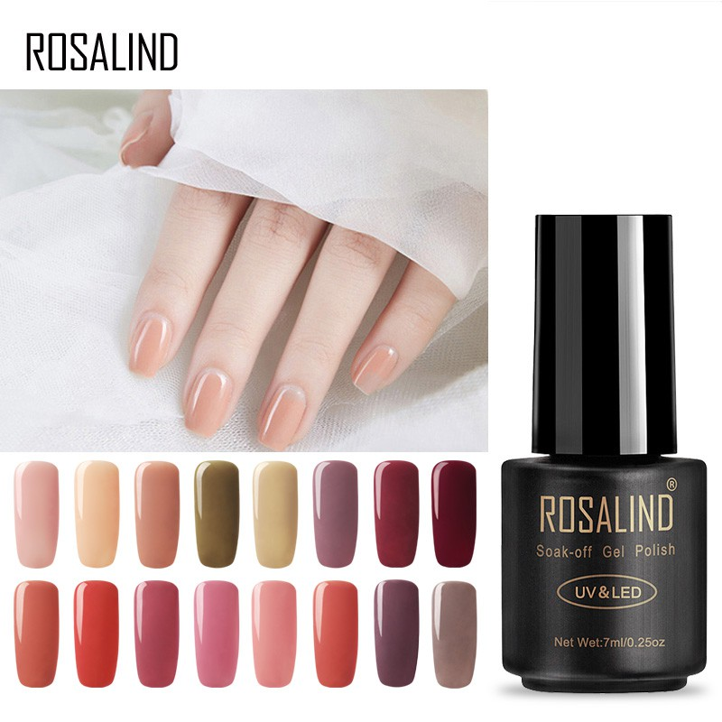 efd76bdf7c ROSALIND 7ML Nail Gel 2501-2510 UV LED Soak-off Semi Permanent Gel Varnishes