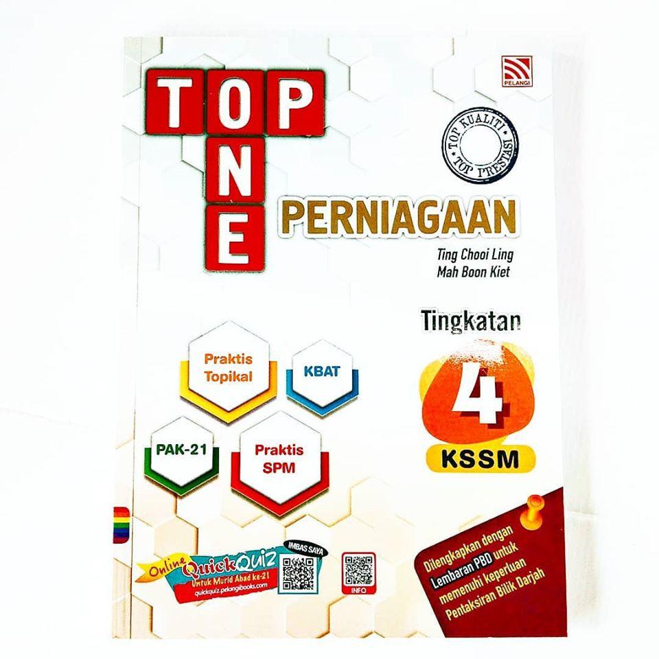 Top One Tingkatan 4 KSSM Terkini 2020 Penerbitan Pelangi ...