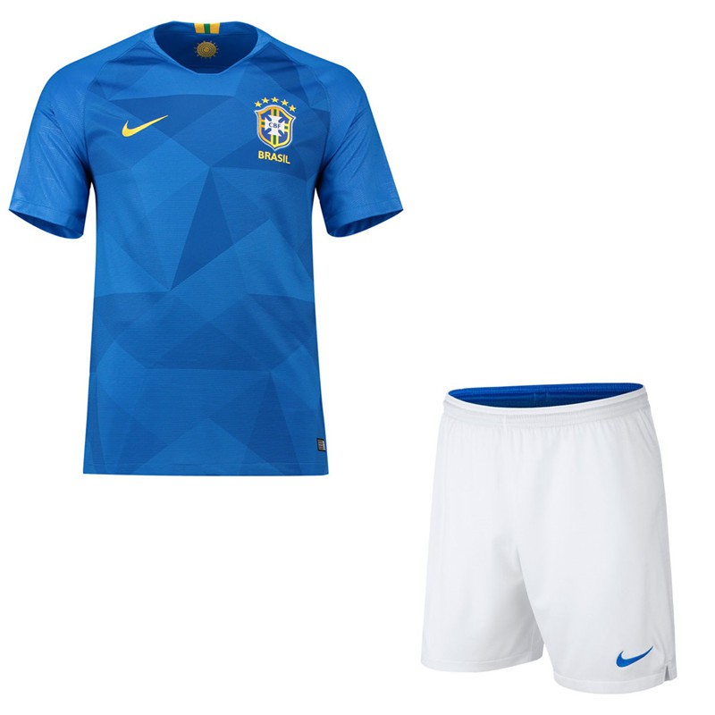 f302b50c7a9 2018 World Cup Boys Brazil National Team NO.10 Neymar JR Home kit away kit  Kids Football Jersey