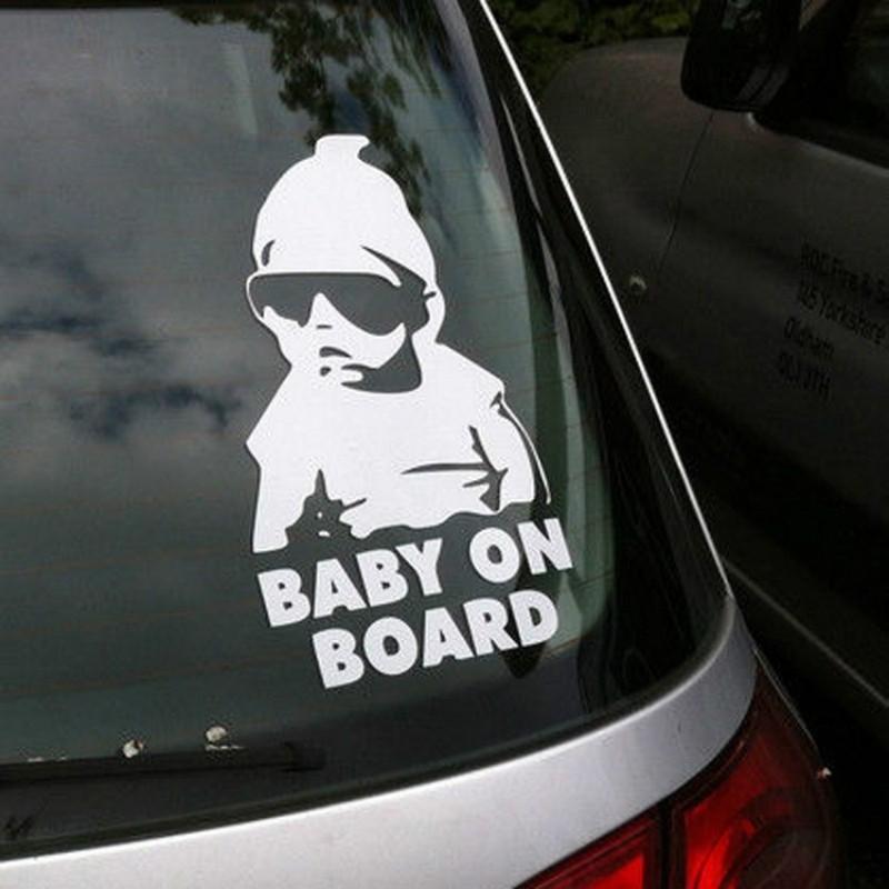 Decal #DADLIFE Sticker Dad Life Baby On Board Child Car Cute Vinyl WHITE