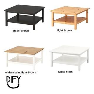 Hemnes Coffee Table 90x90cm Ikea Shopee Malaysia
