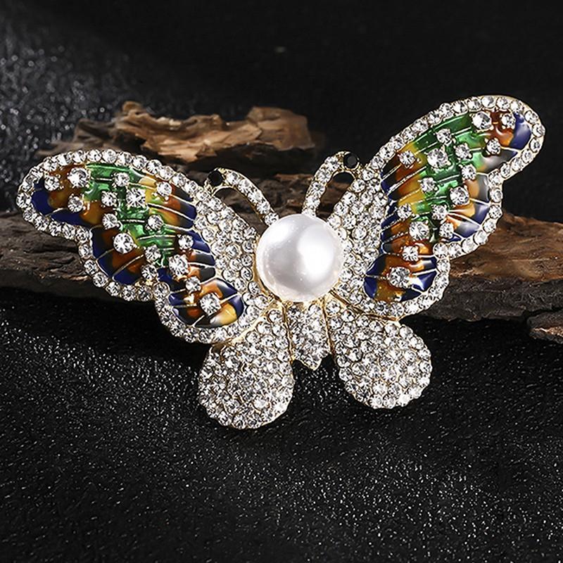 Pearl Crystal Rhinestone Cat Animals Enamel Brooch Pin Women Costume Jewelry Hot