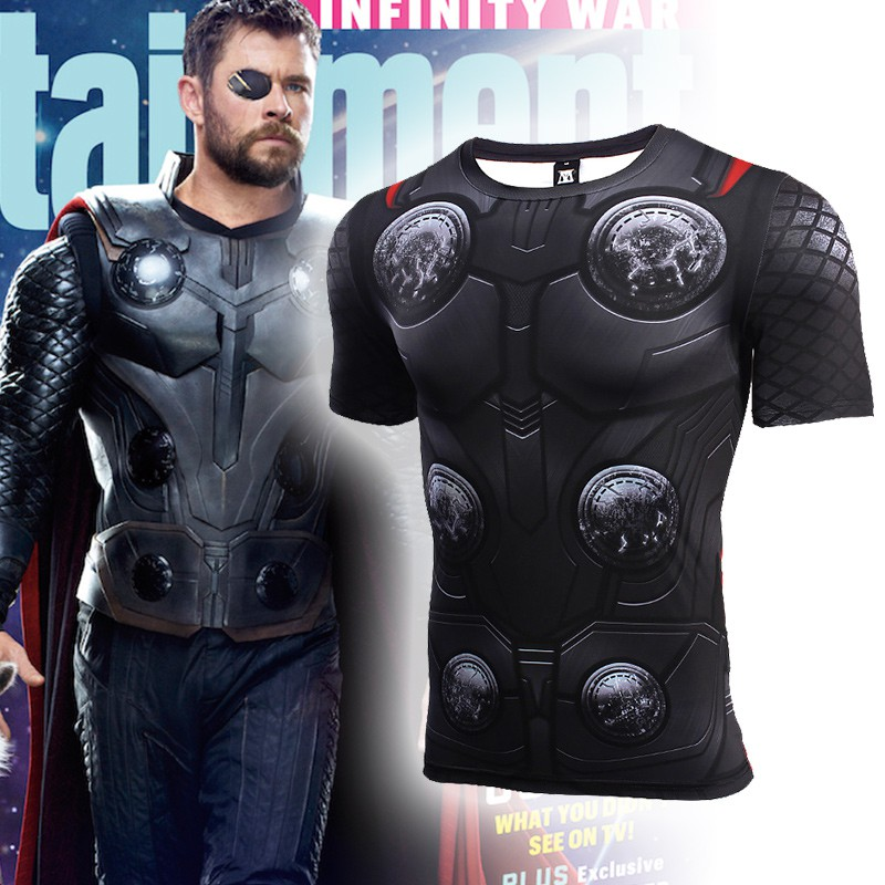 9504e02cc1203 2018 Marvel Studio Avengers Infinity War Thor 3D Tank Top Singlet ...