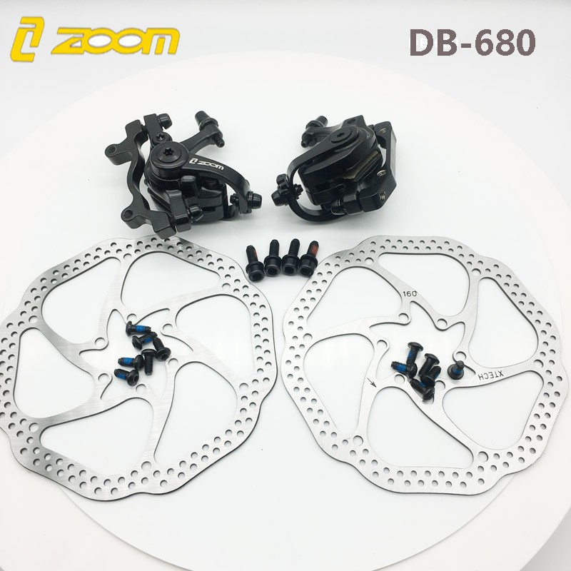 ZOOM Bicycle MTB Front//Rear Mechanical Brake Cycling Caliper Double Bike Brakes