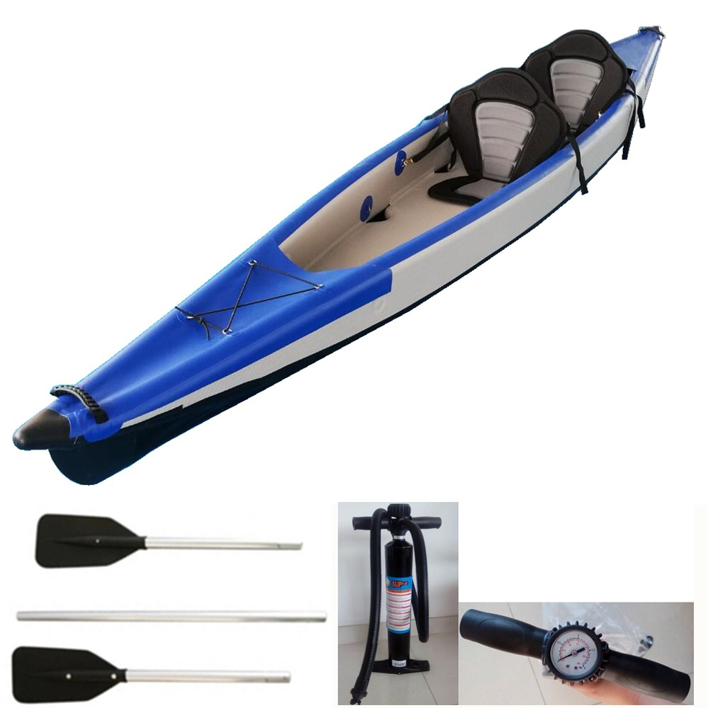 Kayak Inflatable Two Man Dropstitch Riber /'SEE/' Kayak With Seats Paddles /& BAs