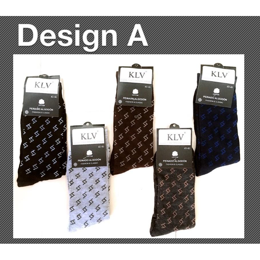 Comfortable Men Cotton Classic Socks Casual Business Breathable Socks Line Dot Design