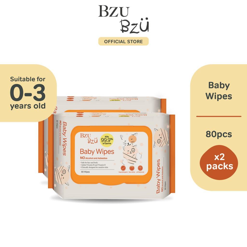 BZU BZU Baby Wipes (80 Pcs x 2)