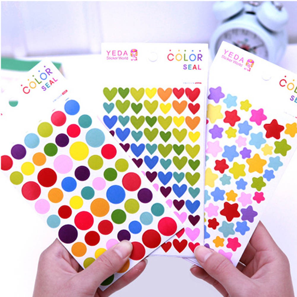 1PC Geometry Sticker Decor for Mobile Phone Laptop Cup Hand Crafts Accessories