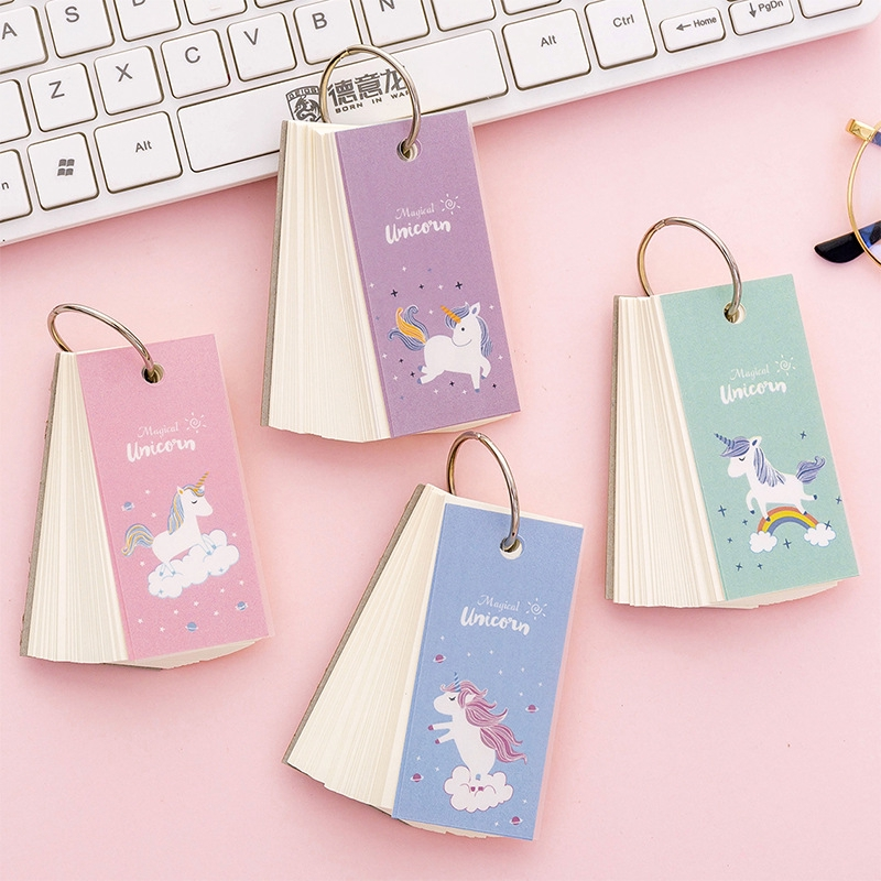 bbbfd855ae Blank Small Notebook Unicorn Card Blank Word Card Message Card Study Gift