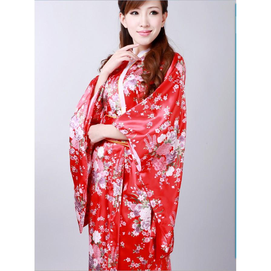Japanese sexy kimono kimono set print photography kimono