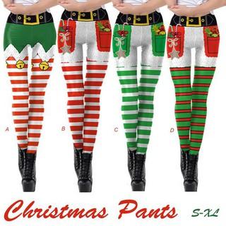 2018 New Digital Printing Leggings European And American Christmas Yoga Pants