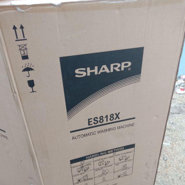 Sharp ES818X Fully-Auto Washing Machine 8KG