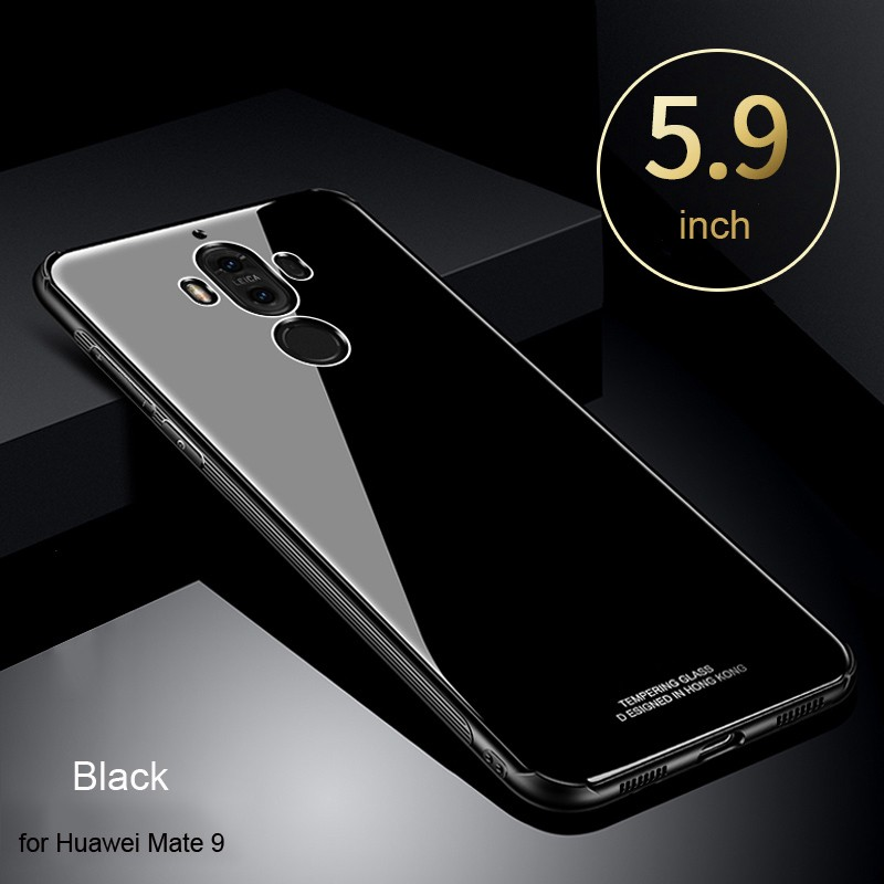 Huawei Mate 9 / Mate 9 Pro Tempered Glass Case Mirror Soft Frame Hard Back  Cover