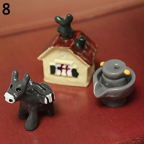 10pcs Resin Mini Rabbit Ornament Miniature Landscape Crafts Toys Garden Decor/'