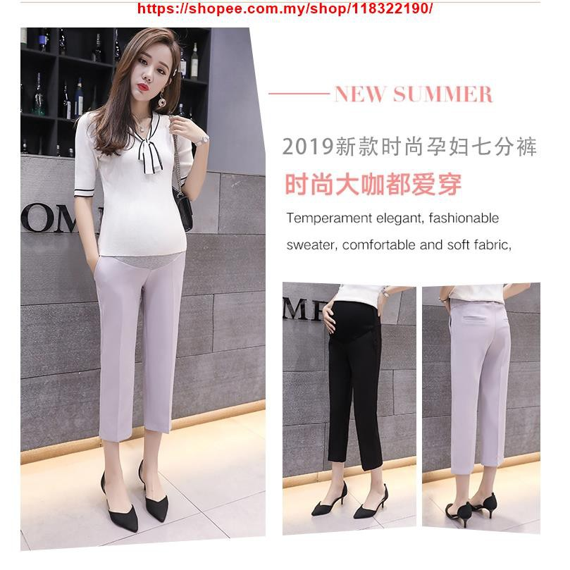 abab7e789ad3b ProductImage. ProductImage. Maternity Pants Office Cropped Trousers