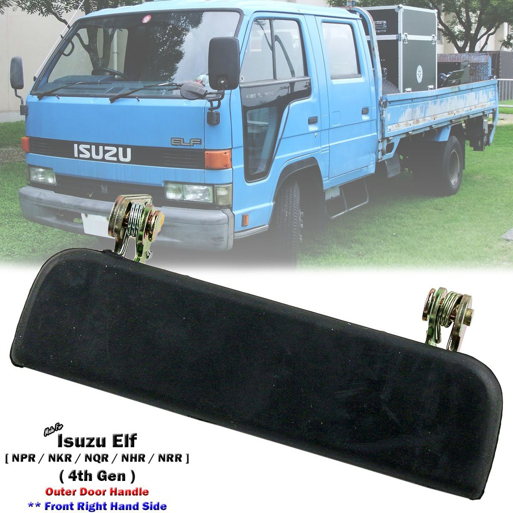 Black Front Right Outer Door Handle For Isuzu Elf NPR NQR NKR NRR NHR  1984-1993