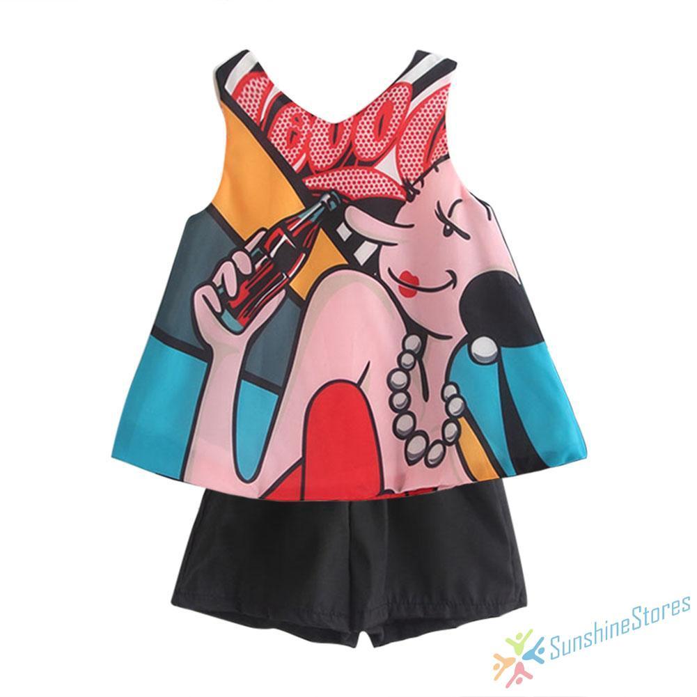 Toddler Kids Baby Girl Summer Sleeveless Dress Rotating Irregular Cotton Dresses