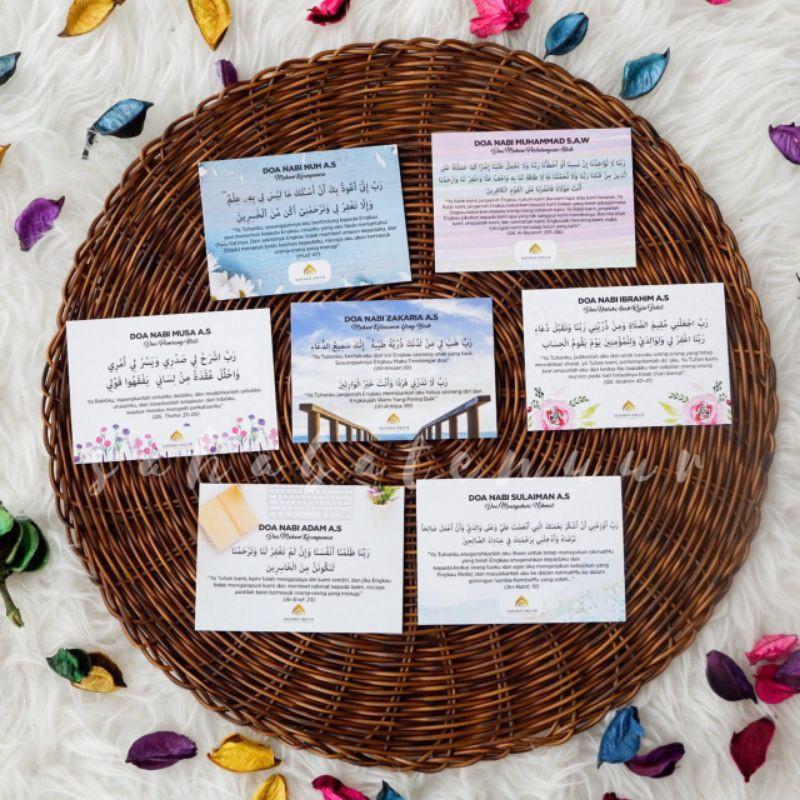 3pcs Free Gift Cute Murah Doorgift Mini Bookmark Islamik Kad Doa Harian Quotes Card Motivation Wall Sticker