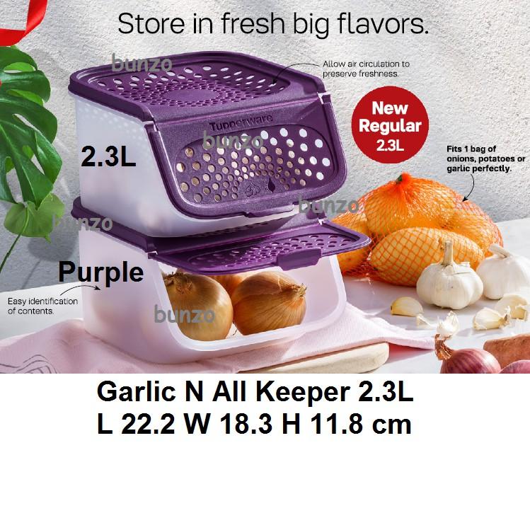 Tupperware [New Size] Garlic N All Keeper 2.3L - 1pc