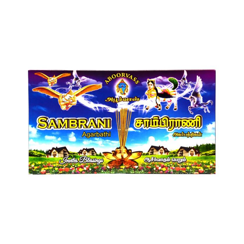 ABOORVASS SAMBRANI AGARBATHI LONG STICK ENCENSE 440GM
