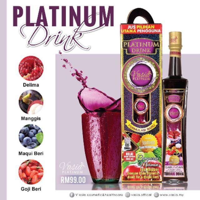 VASIA PLATINUM DRINK 500ML 100% ORIGINAL HQ+FREEGIFT