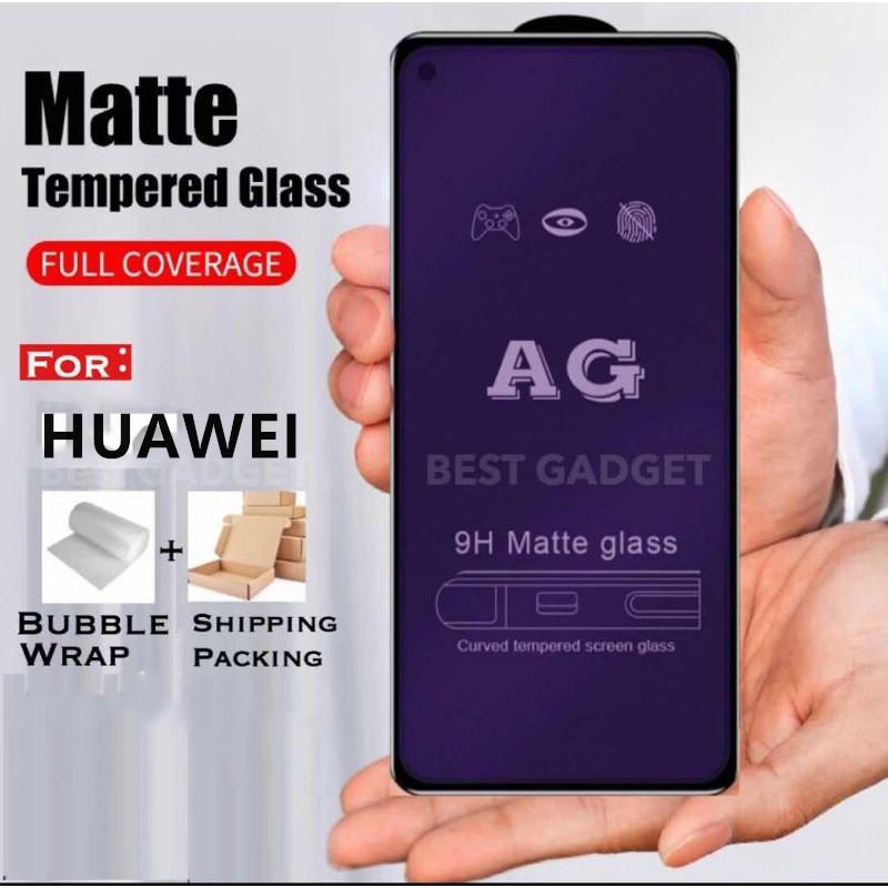 (MattBlueray) Huawei Nova 2lite 2i 3 3i 4 4E 7 7i 7se P20 Pro P30 P40 Mate 20 Mate 30 AG 9H 9D Tempered Glass