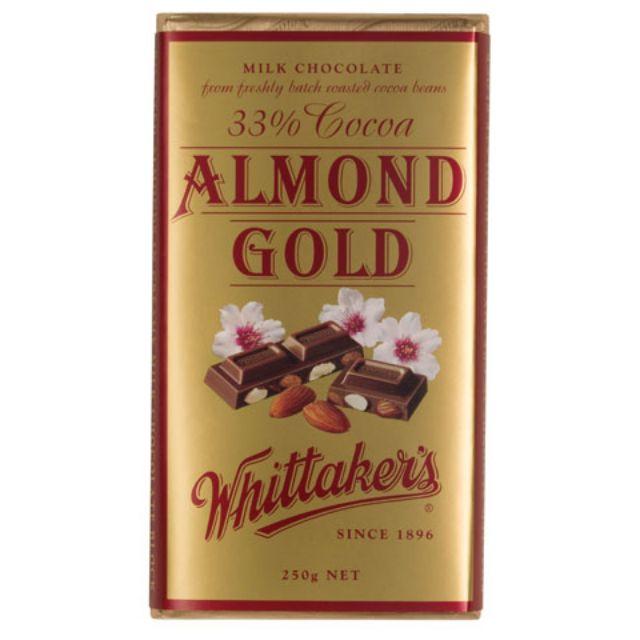 Whittaker Almond Gold Bar 250gram