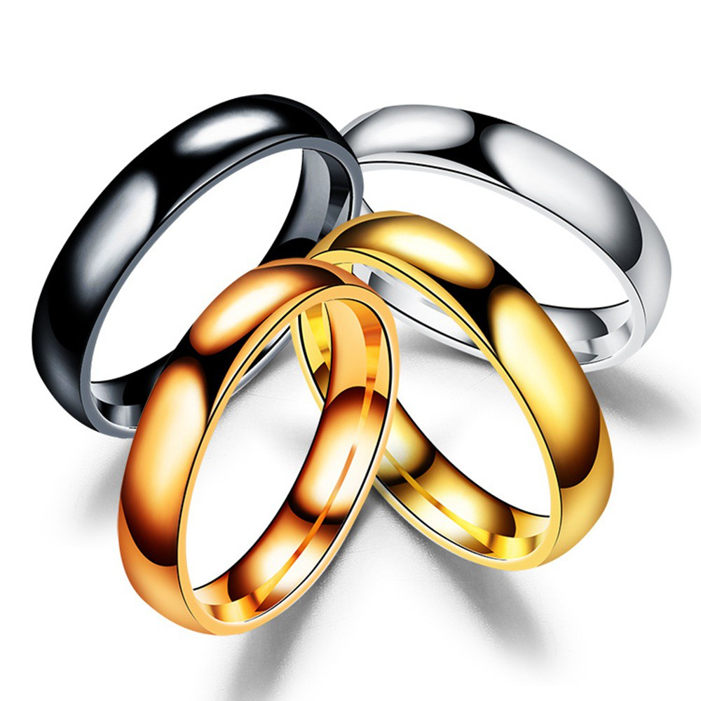 5d88e1aa2a7d6 Simple Titanium Steel Men Rings Lover Couple Rings Women Fashion Jewellery  Gift