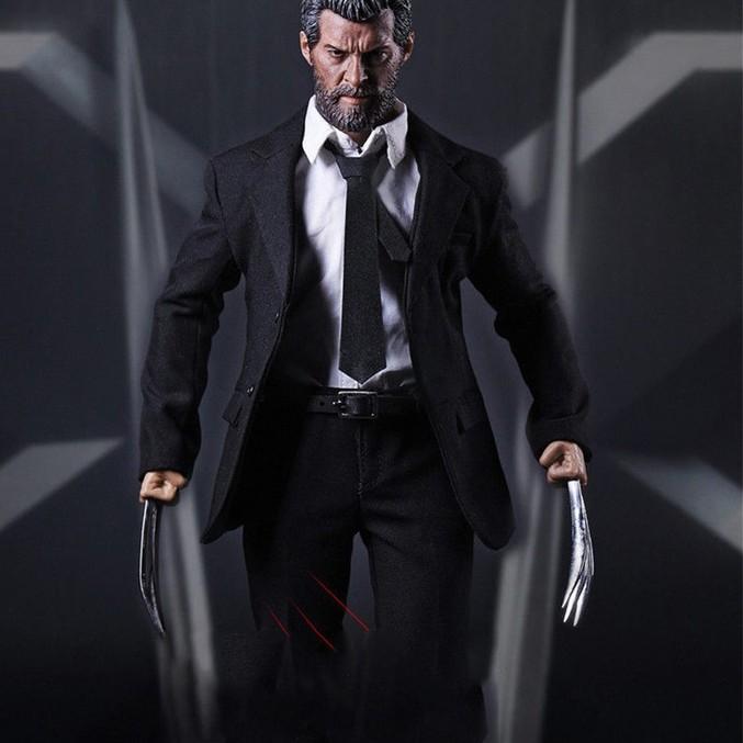 "1//6 Hot Toys Marvel The Wolverine Hugh Jackman Logan Black Coat Fit 12/"" Body"