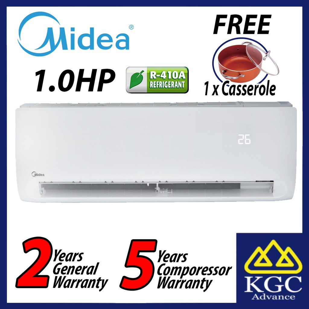 Midea 1.0HP R410A MSK4-09CRN1 Klassic Series Wall Mounted Air Conditioner (Free Casserole)