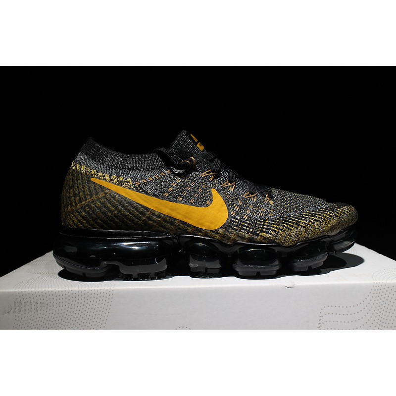 2e436ddbad ProductImage. ProductImage. Original Nike Air 2018 VaporMax Flyknit black  gold men's running shoes