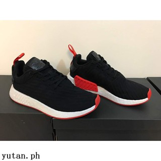 closer at stable quality wide range Adidas Nmd R2 Black Red High Premium Original Sepatu Shoes