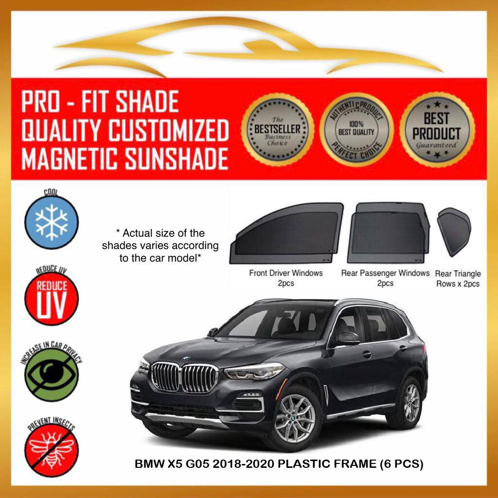 Prime Custom Fit Magnetic Sunshade Bmw X5 G05 2018 2020 Plastic Frame 6 Pcs Car Magnetic Sunshade Shopee Malaysia