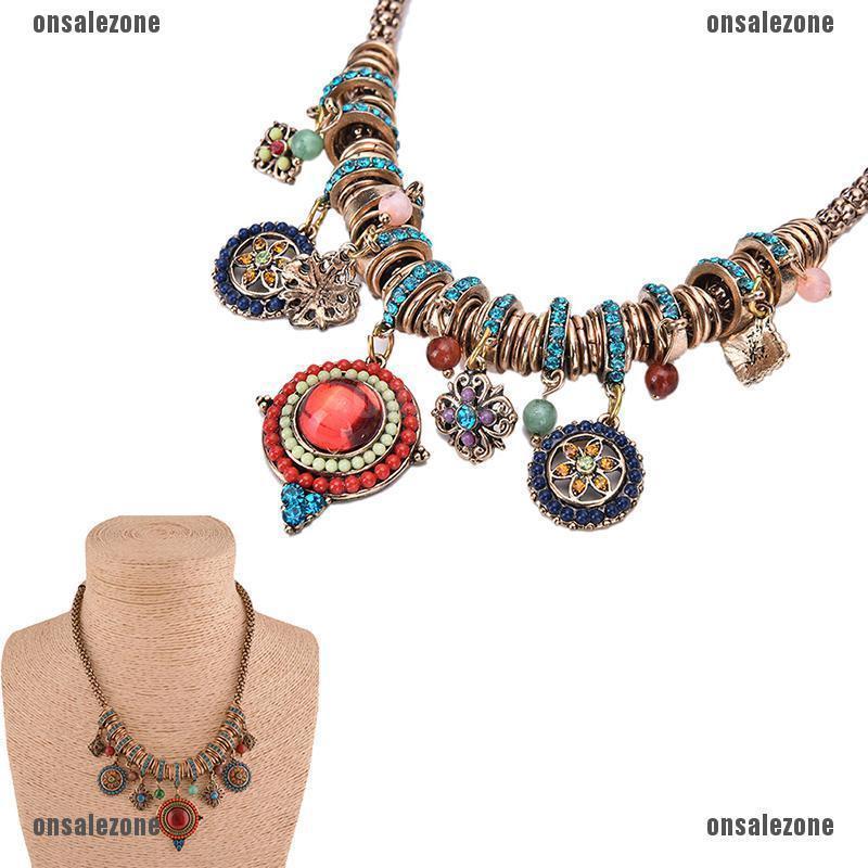 Gypsy Ethnic Tribal Turkish Boho Chain Bid Necklace Tassel Pendant Fringe
